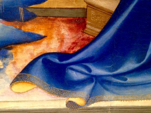 "Close-Up of the Painting by Lorenzo Monaco, 1410-1415 (""Annunciation and Saints"")"