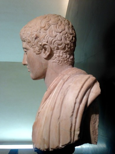 Bust of Young Athlete from the Second Century CE in Palazzo Medici Riccardi