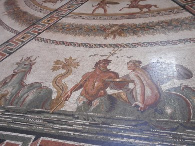 A Mosaic Floor in the Vatican Depicting Ancient Mythology