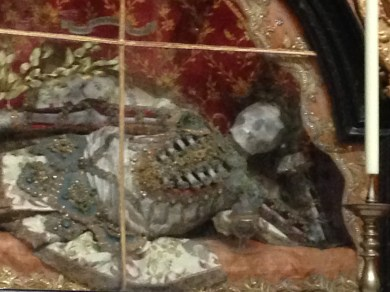 Close-up of Saint Friedrich in Melk Abbey: Another Saint who Enjoys Reclining