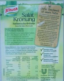 Salat Krönung