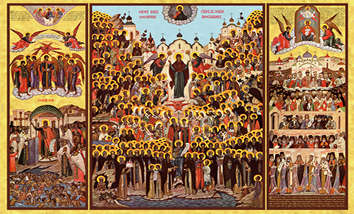 "Sunday Of All Saints of Russia, Belorussia, And Ukraine: ""..... blessed are they that mourn."" (Math.5)"