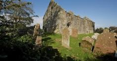 A general view of Whithorn Priory and the Graveyard.