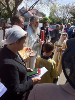 Pokrov, Parish Feast Procession around the Church, October 2011