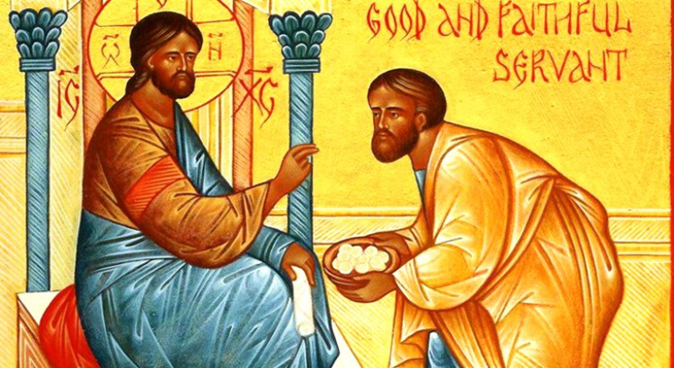 Parable of the Talents Good and Faithful Servant Icon