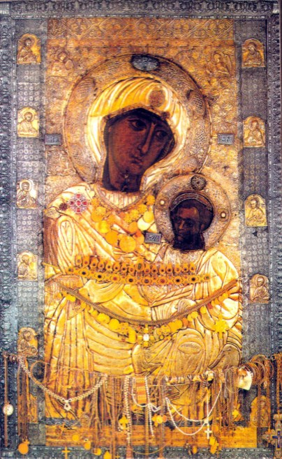 The Iveron Icon, which at present is preserved in a monastery on Athos, by tradition was painted by the Apostle and Evangelist Luke