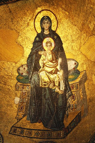 Byzantine mosaic of Holy Theotokos and Christ, Hagia Sofia