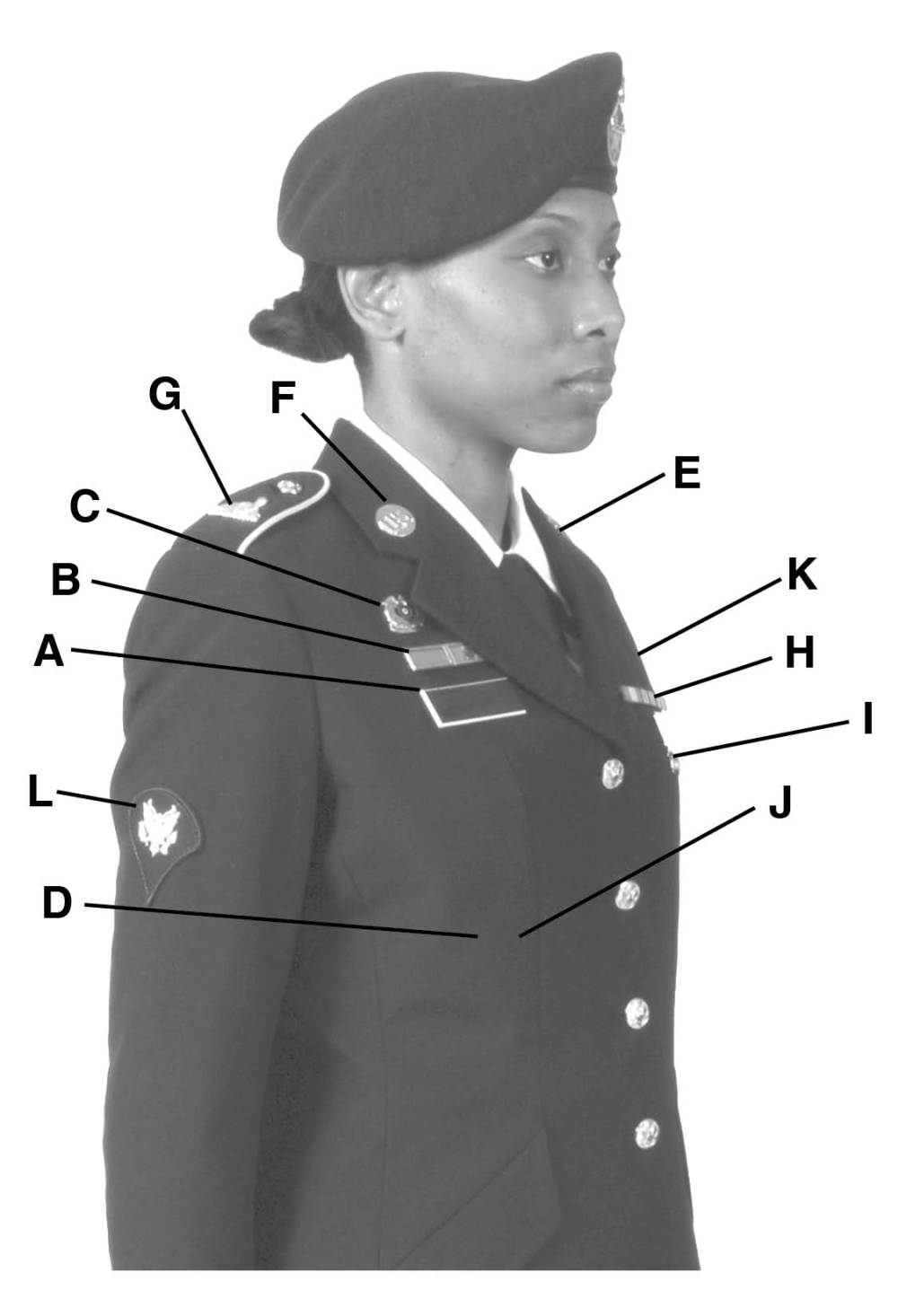medium resolution of army service uniform enlisted female rh aut2 mentorenterprisesinc com air force dress uniform army asu combat badge placement