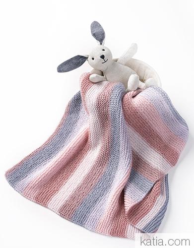 couverture bebe en baby paint de katia