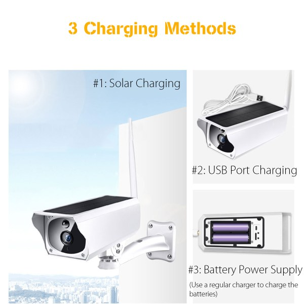 WIFI  Solar IP Camera With IR Cut IP 67 Waterproof outdoor Bullet Camera Support Cloud Storage 4