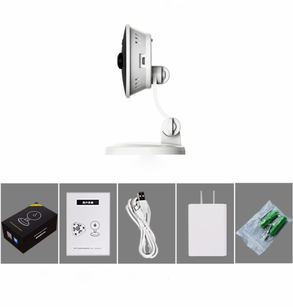 IP Camera Wireless WIFI 360 Panoramic Camera Two Way Audio Motion Detection 5