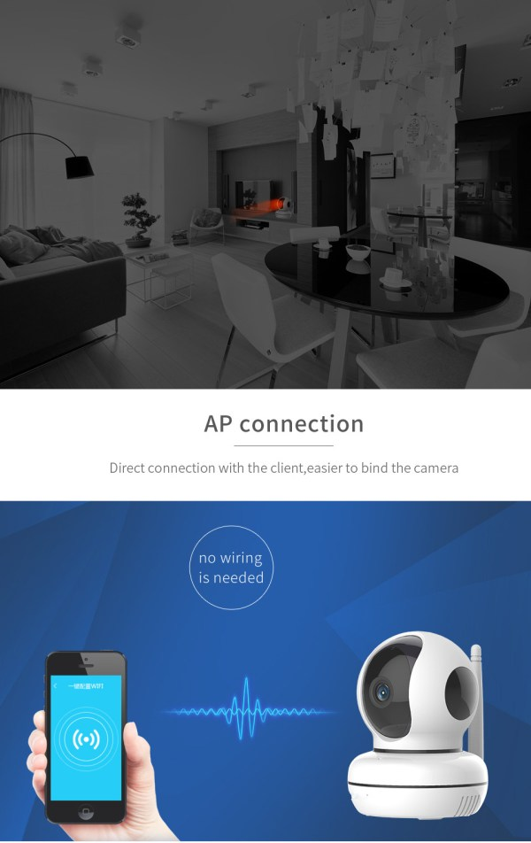 Privacy Network Camera WIFI p2p Two way Audio Home Security Surveillance Camera 5
