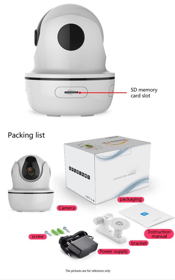 1080P Network Camera Two way Audio Motion Detection Pan Tilt Full HD Security Home Camera 11