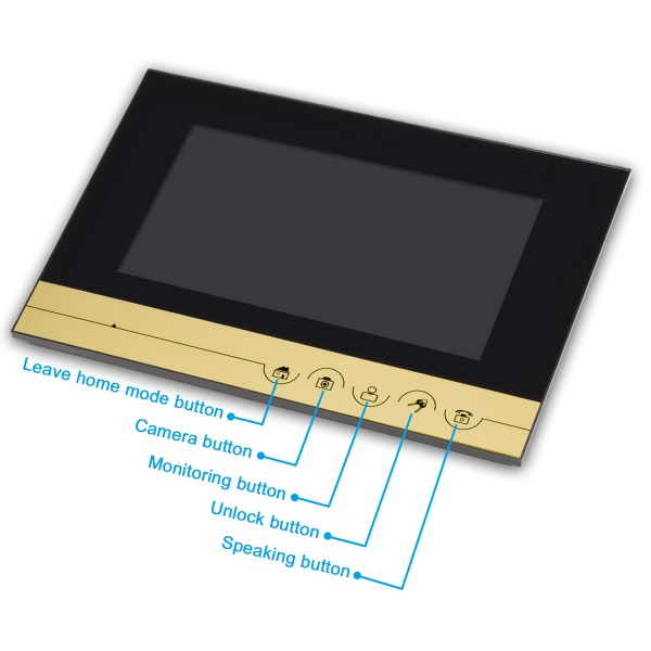 Video Intercomunicador with 7''Color Screen Support Unlock by Inclusive Card Easy Mounting on Wall 4