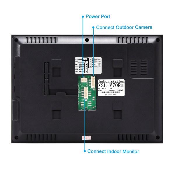 Video Intercom 7'' LCD Color Screen Wired Video Door Phone Audio Intercom with 700TVL CMOS Door Bell 7