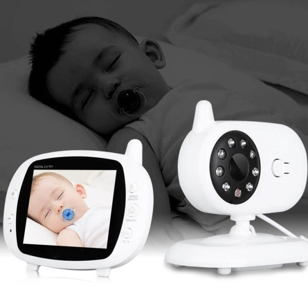 3.5inch Wireless Baby Monitor Support Temperature Detect Two Way Audio Video Intercom with Lullabies Baby Camera 10
