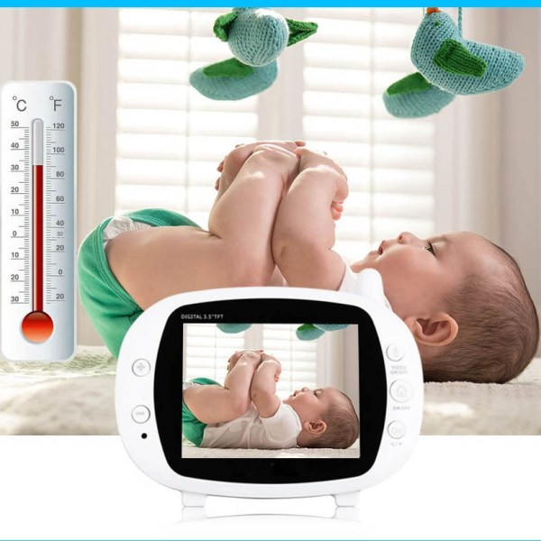 3.5inch Wireless Baby Monitor Support Temperature Detect Two Way Audio Video Intercom with Lullabies Baby Camera 11