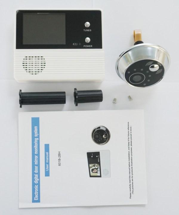 Digital Electric Peephole Video Door Intercom 2.4'' Screen 90 degree Viewing Angle Home Security Video Doorbell 5
