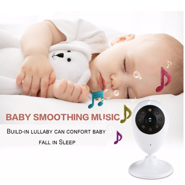 2.4G Wireless Baby Monitor Two-Way Audio Intercom Temperature Night Baby Monitor With 2.4inch LCD 5