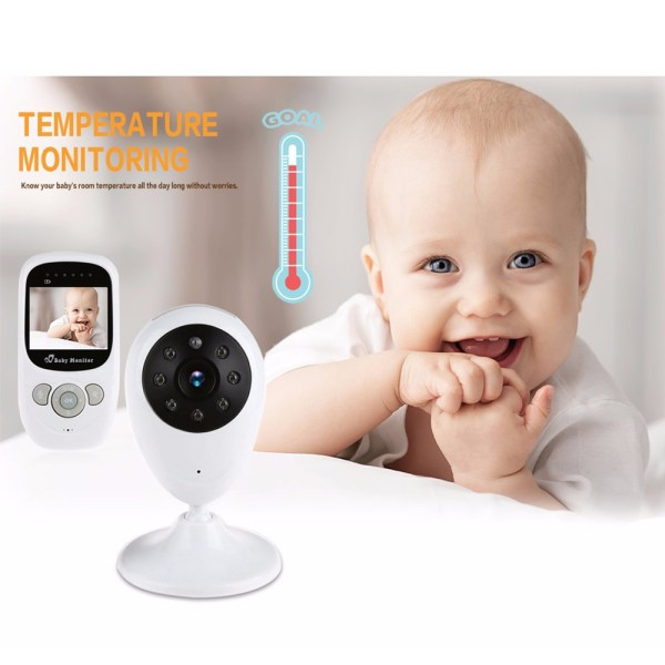 2.4G Wireless Baby Monitor Two-Way Audio Intercom Temperature Night Baby Monitor With 2.4inch LCD 6