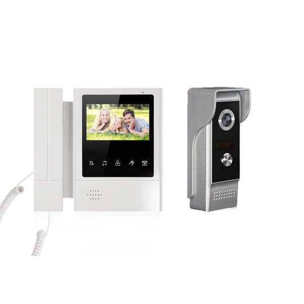 4.3inch Interphone Video Door Phone Intercom System  with IR Night Vision 700TVL 1