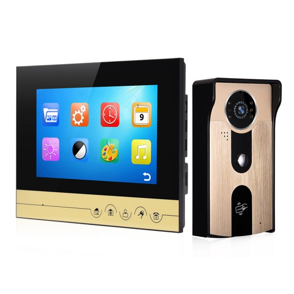 Video Intercomunicador with 7''Color Screen Support Unlock by Inclusive Card Easy Mounting on Wall 1