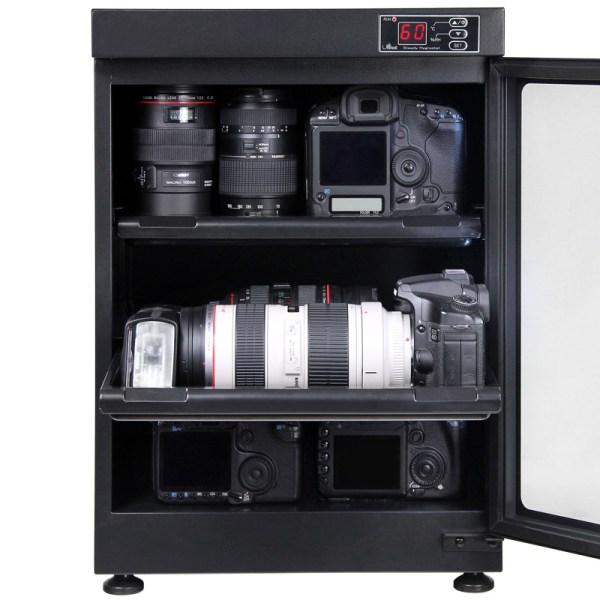 AUTENS 68L Digital Control Dehumidify Dry Cabinet Box DSLR Lens Camera Equipment Storage 4