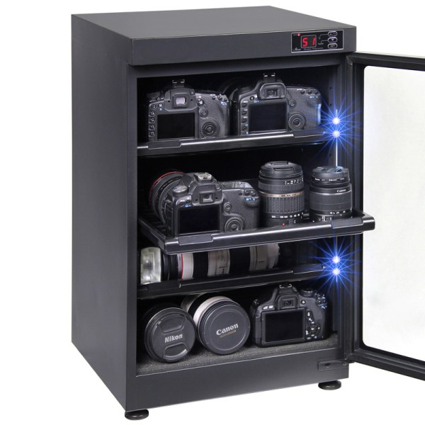 AUTENS 88L Digital Control Dehumidify Dry Cabinet Box DSLR Lens Camera Equipment Storage 5