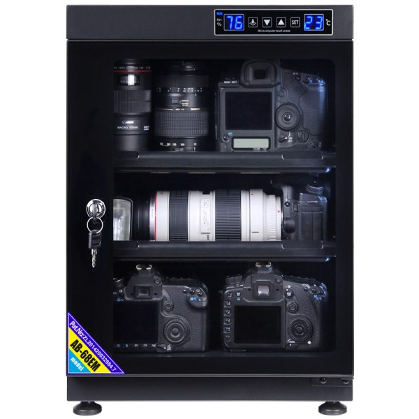 AUTENS 68L Touch Screen Camera Dehumidifying Dry Cabinet Storage Box for DSLR Camera Lens 2
