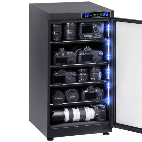 AUTENS 102L Touch Screen Camera Dehumidifying Dry Cabinet Storage Box for DSLR Camera Lens 3
