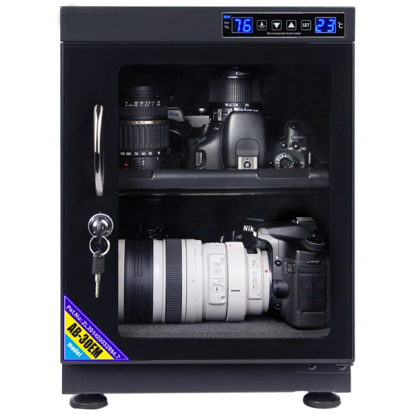 AUTENS 30L Touch Screen Camera Dehumidifying Dry Cabinet Storage Box for DSLR Camera Lens 4