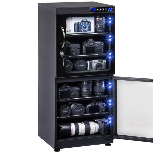 AUTENS 132L Touch Screen Camera Dehumidifying Dry Cabinet Storage Box for DSLR Camera Lens 4