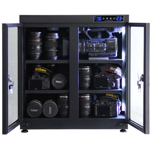 AUTENS 135L Touch Screen Camera Dehumidifying Dry Cabinet Storage Box for DSLR Camera Lens 3
