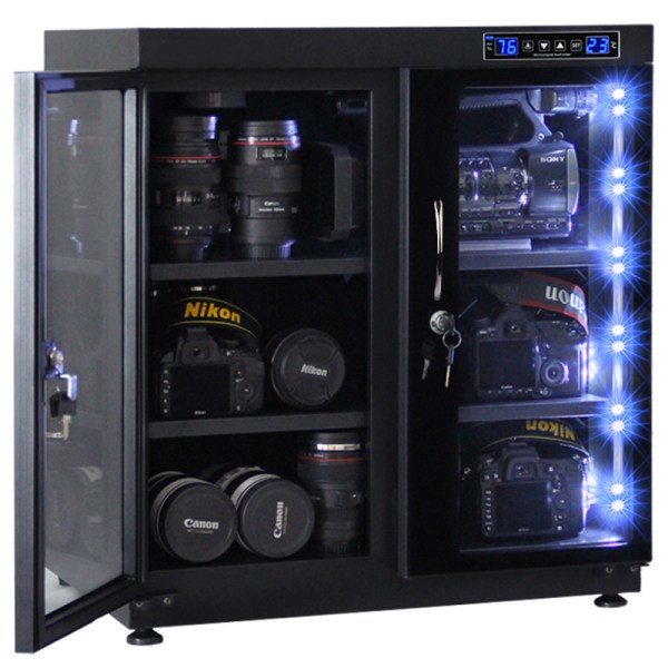 AUTENS 135L Touch Screen Camera Dehumidifying Dry Cabinet Storage Box for DSLR Camera Lens 4
