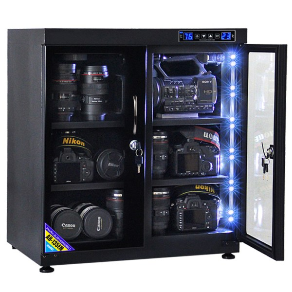 AUTENS 135L Touch Screen Camera Dehumidifying Dry Cabinet Storage Box for DSLR Camera Lens 5
