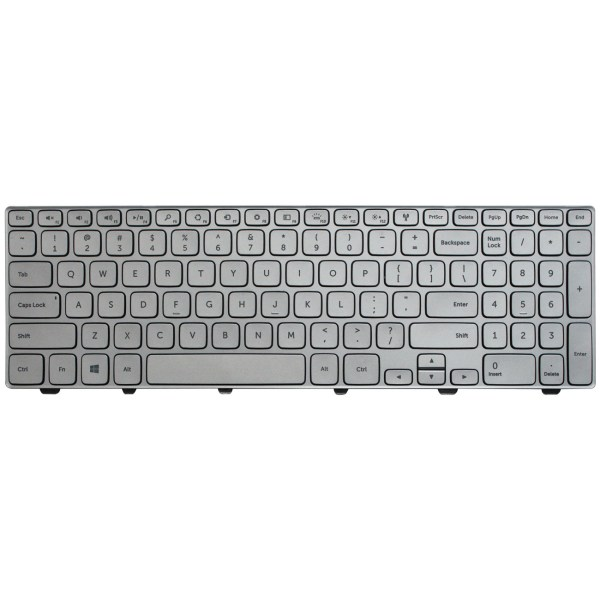 Replacement Keyboard for Dell Inspiron 15 7000 Series 7537 7557 7559 7568 7569 7737 Laptop Silver 1