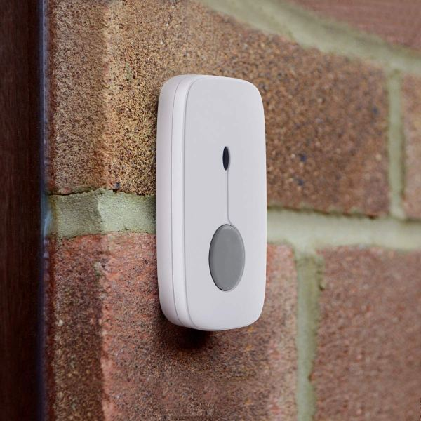 Wireless Doorbell Chime Kit White with 4 Volume Level 52 Melodies Chimes 850ft Range 8