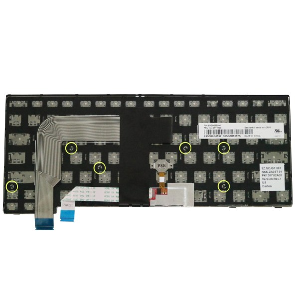 Replacement Keyboard for Lenovo ThinkPad T460s T470s (Not Fit T460 T460p T470 T470p) Laptop (6 Fixing Screws) 5