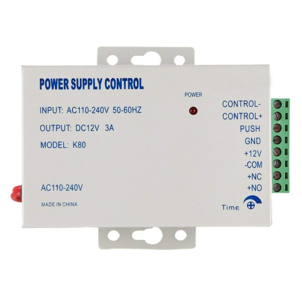 Power Supply Controller AC 110-240V to DC 12V for Door Access Control System & Video Intercom Entry 1