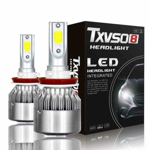 LED Car Headlight Bulbs H8 H9 H11 High Beam/Low Beam/Fog Light All-in-One Design 1