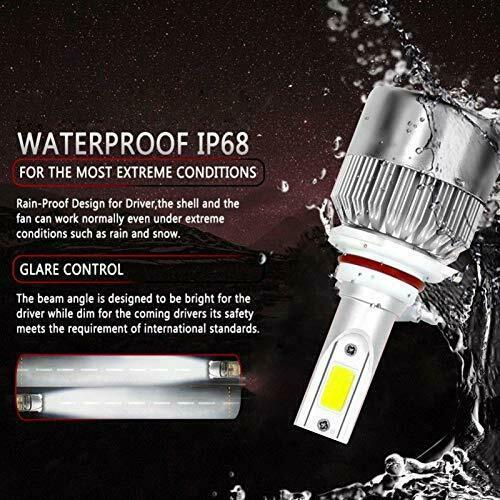 LED Car Headlight Bulbs 9006/HB4 High Beam/Low Beam/Fog Light All-in-One Design 3