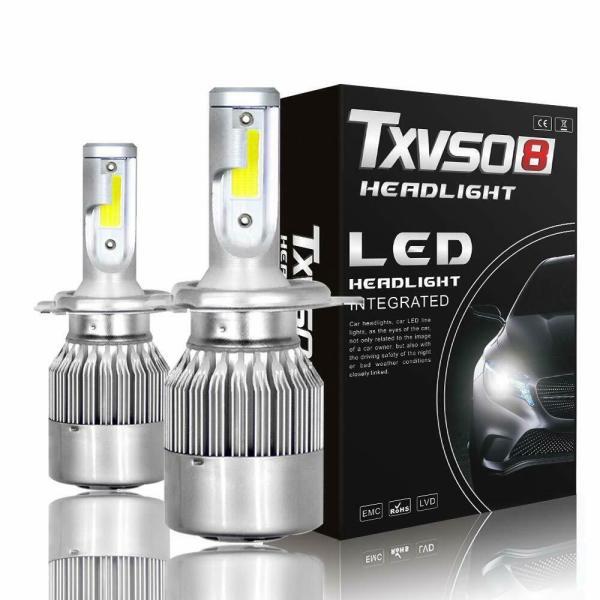 LED Car Headlight Bulbs H4 High Beam/Low Beam/Fog Light All-in-One Plug & Play 1