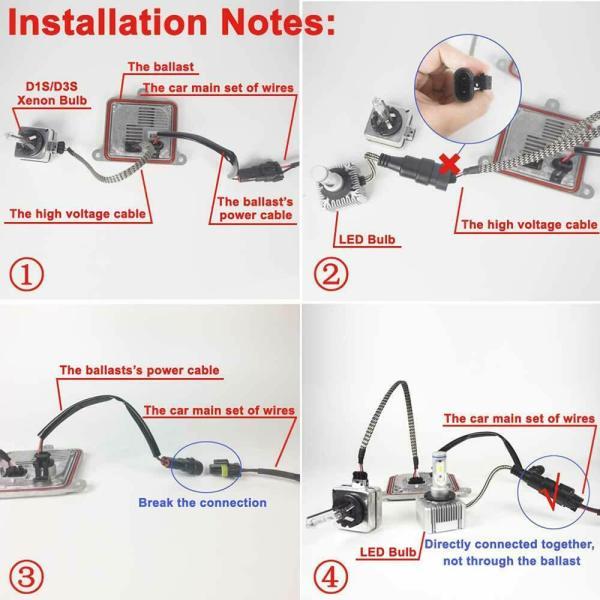 LED Replacement Bulb Diamond White 12V Car Headlight 55W 6000K D3S/D3R/D1S/D1R 7