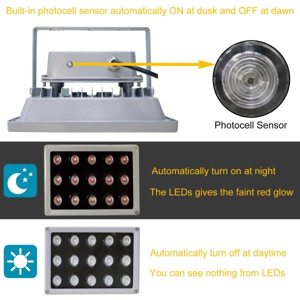 IR Illuminator 850nm 15-LED IR Infrared Light with Power Adapter for CCTV Camera (90 Degree) 5