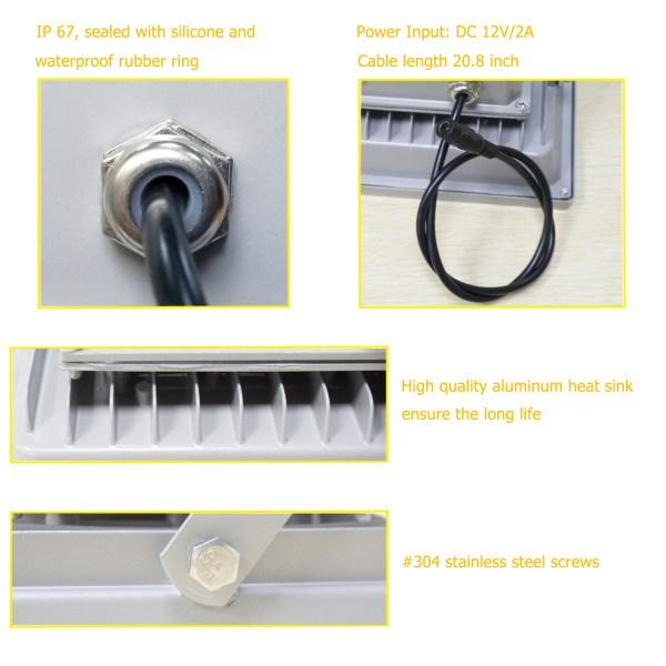 IR Illuminator 850nm 15-LED IR Infrared Light with Power Adapter for CCTV Camera (90 Degree) 6
