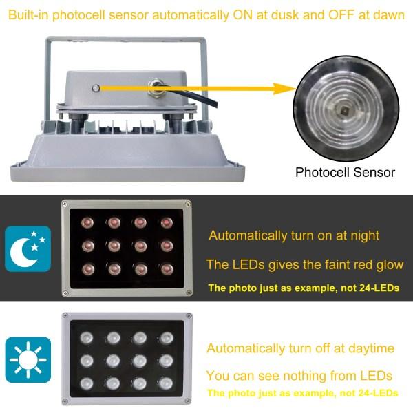 IR Illuminator 850nm 24-LED IR Infrared Light with Power Adapter for CCTV Camera (90 Degree) 5
