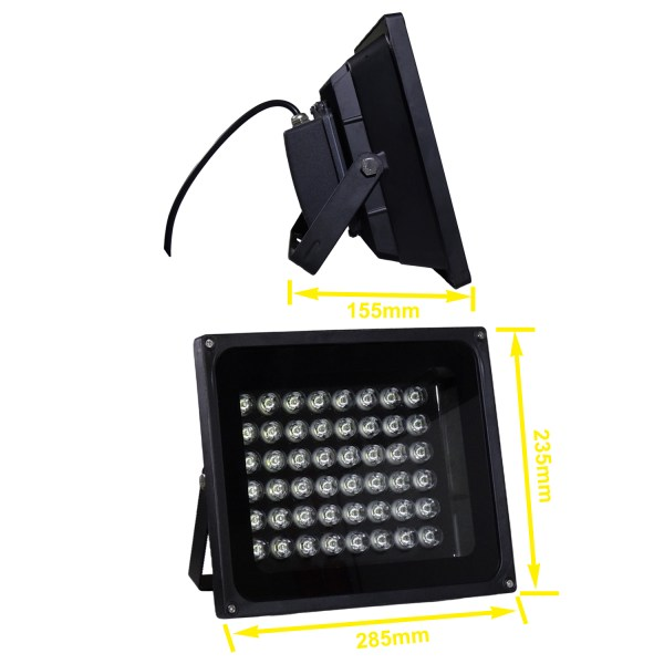 IR Illuminator 850nm 48-LED IR Infrared Light with Power Adapter for CCTV Camera (90 Degree) 5