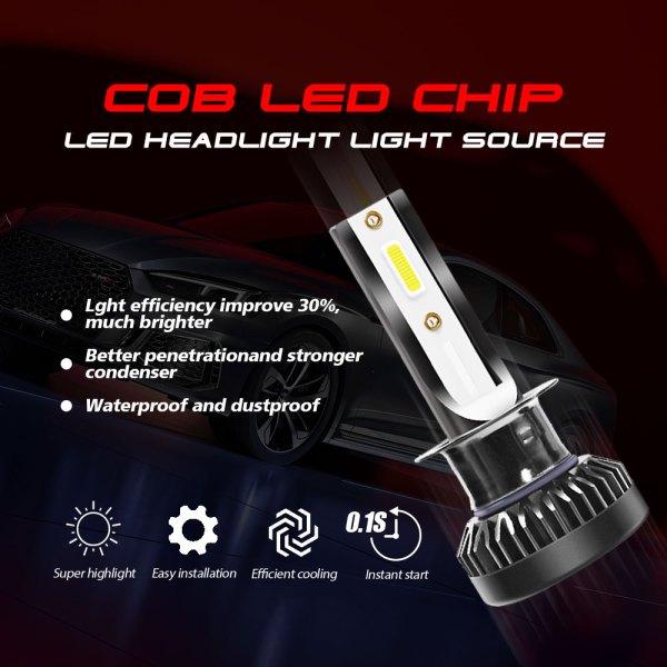 H1 LED Headlight Bulbs Conversion Kit 6000 K Cold White 360° Adjustable Beam 4