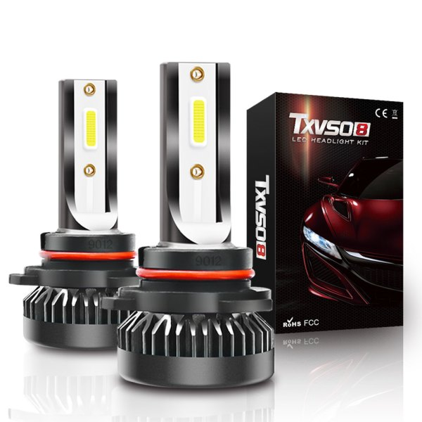 LED Headlight Bulbs Conversion Kit 9012 6000K Cold White All in One Model 2 PCS 1