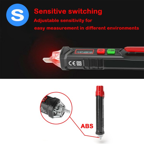 Voltage Tester Non Contact AC Voltage Detector for Range 12V-1000V/48V-1000V With Led Light, Flashlight 5